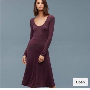 NWT Wilfred Free Bock soft black dress